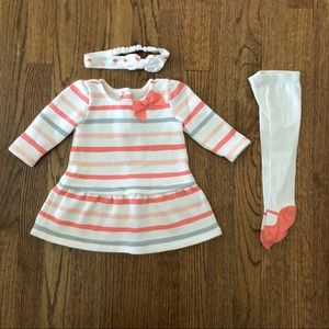 Gymboree Dress, Tights, & Headband 3-Piece Bundle